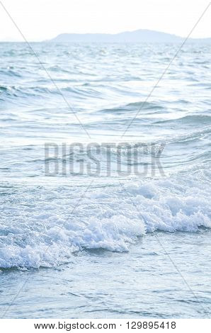wave from the sea in blur background