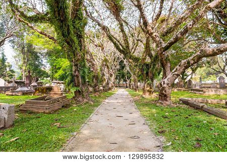 Cemetery In George Town, Malaysia