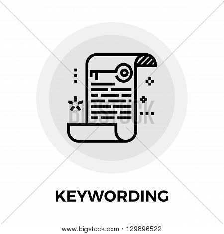 Keywording icon vector. Flat icon isolated on the white background. Editable EPS file. Vector illustration.