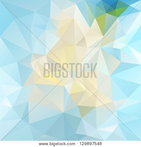 vector abstract irregular polygon background with a triangular pattern in bright icy blue colors