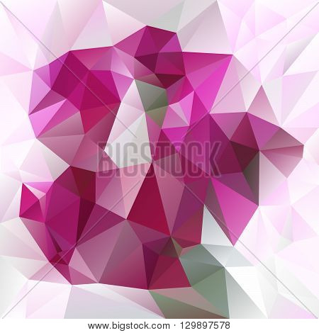 vector abstract irregular polygon background with a triangular pattern in pink and magenta colors