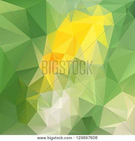 vector abstract irregular polygon background with a triangular pattern in spring green and yellow colors