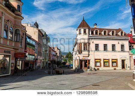 Views Of Pedestrian Zone Of The City Of Ruzomberok, Slovakia