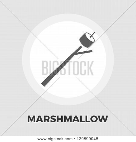 Marshmallow icon vector. Flat icon isolated on the white background. Editable EPS file. Vector illustration.