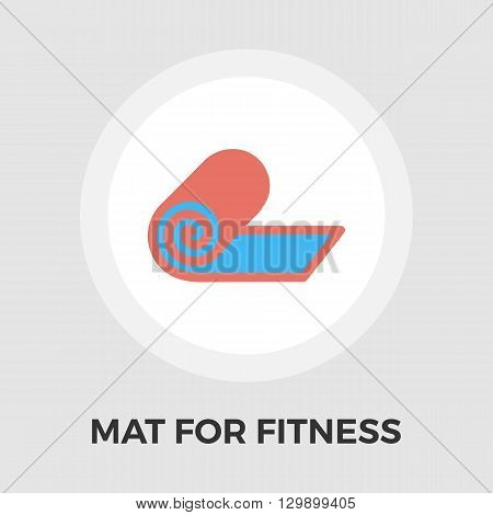 Mat for fitness icon vector. Flat icon isolated on the white background. Editable EPS file. Vector illustration.