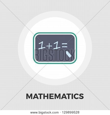 Mathematics icon vector. Flat icon isolated on the white background. Editable EPS file. Vector illustration.