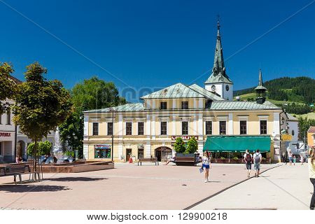 The City Centre Of Dolny Kubin In Slovakia