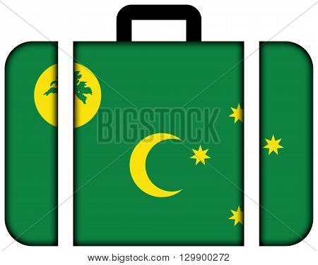 Flag Of Cocos Islands. Suitcase Icon, Travel And Transportation Concept