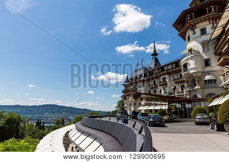 View To The Luxury Grand Hotel Dolder