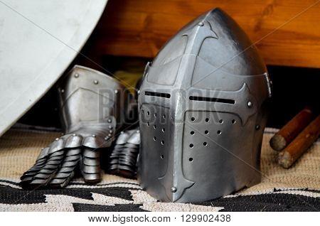 Knight's helmet medieval battle tournament history helm