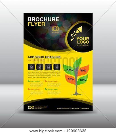 business brochure flyer design layout template newsletter Leaflet poster flyer design