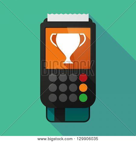 Long Shadow Dataphone With  An Award Cup