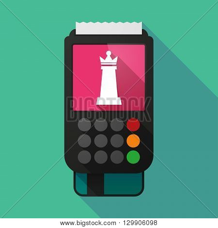 Long Shadow Dataphone With A  Queen   Chess Figure