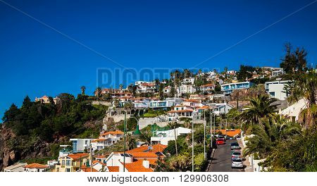 residential houses in a small town Canico near Funchal Madeira Portugal