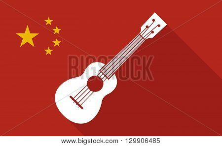 China Long Shadow Flag With   An Ukulele