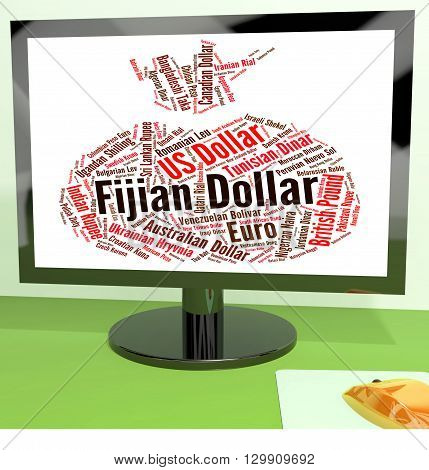 Fijian Dollar Indicates Foreign Exchange And Broker