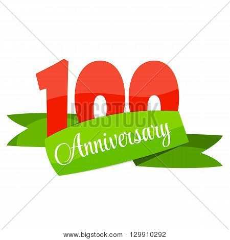 Cute Template 100 Years Anniversary Sign Vector Illustration EPS10