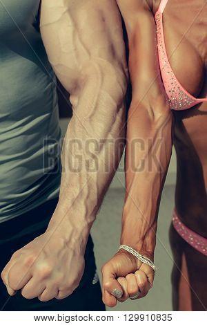 Sporty Couple Of Bodybuilders