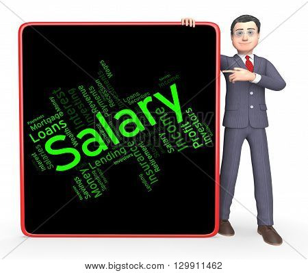 Salary Word Shows Pay Salaries And Employees