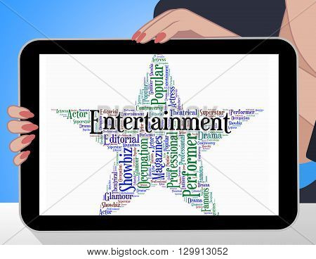 Entertainment Star Indicates Hollywood Movies And Cinemas