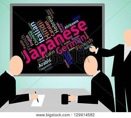 Japanese Language Indicates Cjapan Translate And Translator