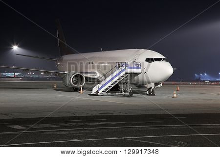 Cargo plane at an airport