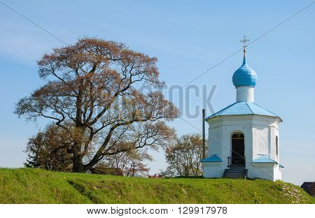 Chapel of the Four Saints in the ancient Russian city of Pskov