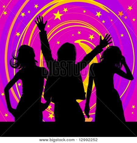 Disco silhouettes