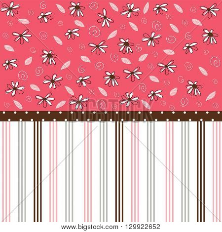 Seamless pattern, floral wallpaper