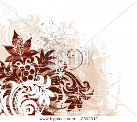 Grunge Blumen Hintergrund