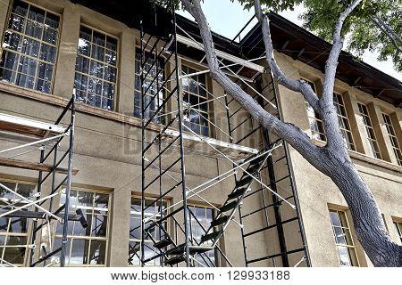 Historic Building Wth Scaffolding