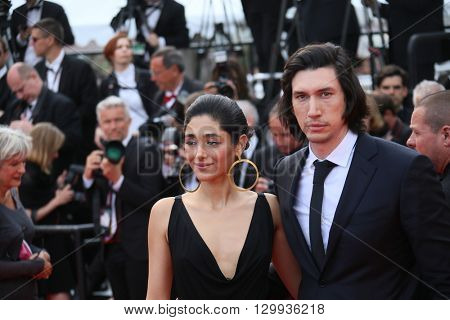 Adam Driver,  Golshifteh Farahani attends the screening of 'Loving' at the annual 69th Cannes Film Festival at Palais des Festivals on May 16, 2016 in Cannes, France.