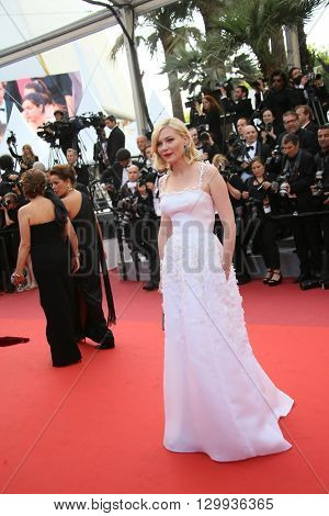 Kirsten Dunst attends the screening of 'Loving' at the annual 69th Cannes Film Festival at Palais des Festivals on May 16, 2016 in Cannes, France.