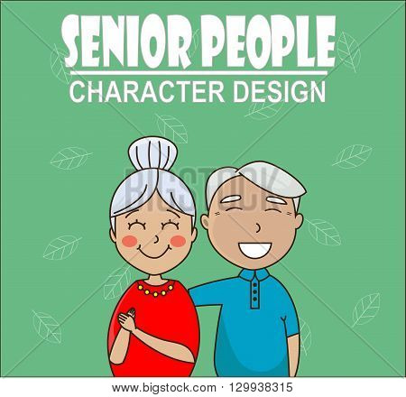 senior couple hugging and smiling. Grandfather and grandmother. Concept of pensions, social insurance, benefits, care for the elderly
