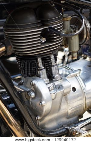 Part Of The Engine On The Motorcycle