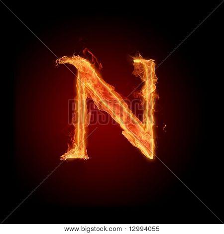 Fuente de fuego. Letra N