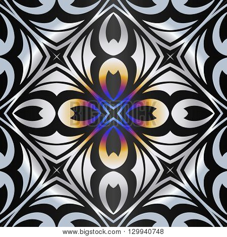 abstract pattern decorative square frame into a diamond-shaped geometric shapes and elements oval