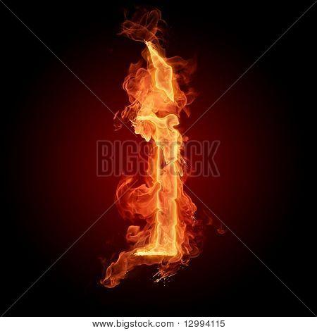 Fuente de fuego. Letra I