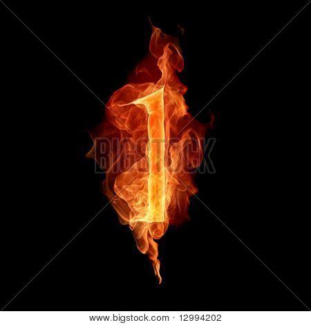 Fiery font. 1