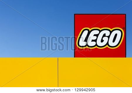 Billund, Denmark - May 14, 2016: Lego is a line of plastic construction toys that are manufactured by the Lego Group, a privately held company based in Billund, Denmark