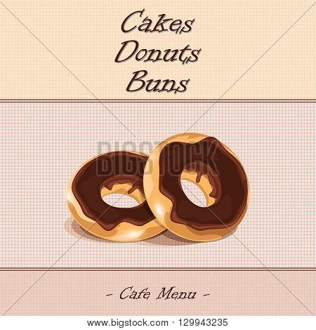 donuts cakes buns in the cafe menu