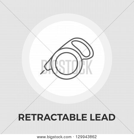 Retractable lead icon vector. Flat icon isolated on the white background. Editable EPS file. Vector illustration.