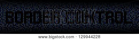 Border Control text on abstract people background illustration
