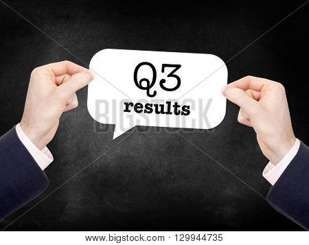 Q3 written on a speechbubble