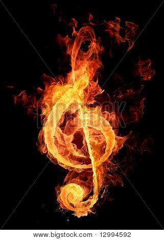 Fire violin key sign