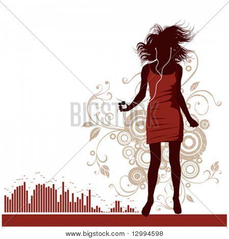 Mädchen, Musik-Hintergrund