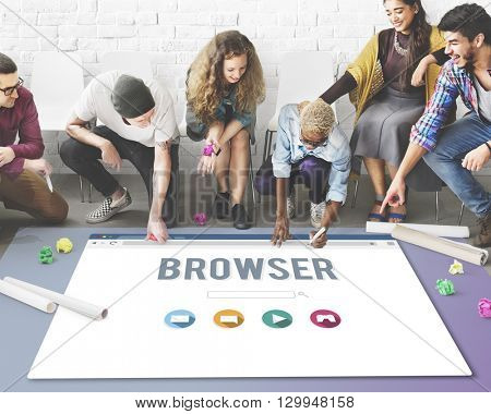 Browser Content Functionality Information Internet Concept