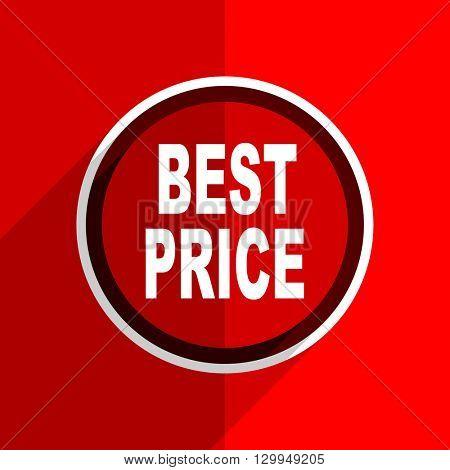 red flat design best price web modern icon