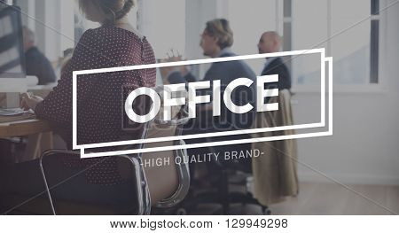 Office Corporate Workplace Business Room Concept