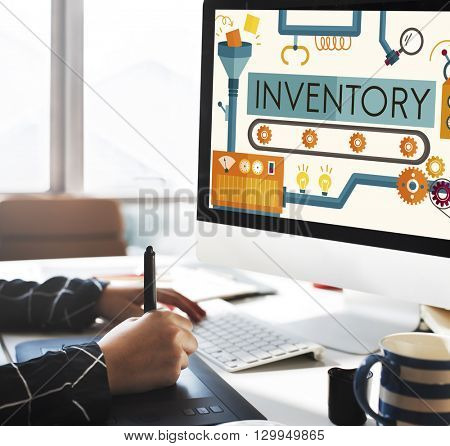 Inventory Stock Manufacturing Assets Goods Concept
